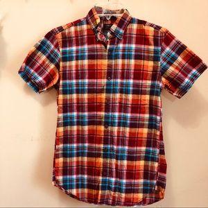 J. Crew Men's Slim Short Sleeve Cotton-Linen Shirt